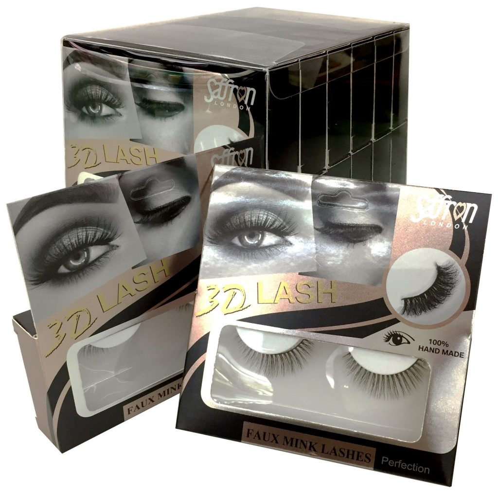3D Faux Mink Eye Lashes Display